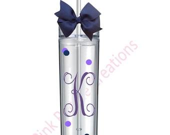 Initial Tumbler, Monogram Tumbler, Monogram Gift, Tumbler Cup, Personalized Tumbler, Bridesmaid Tumbler, Tumbler Cups, Initial Cup, Cup