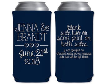 8.3 oz Slim Beer Can Coolers Beverage Insulator Personalized Wedding Favors | Classic (2A) | Energy Drinks/Michelob Ultra | READ DESCRIPTION