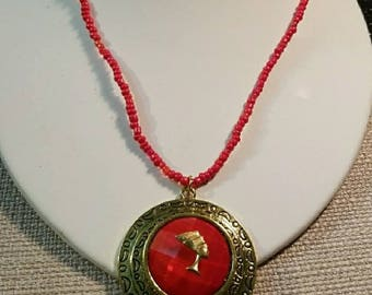 Ancient Egyptian Queen Nefertiti Red Sea Bead necklace.