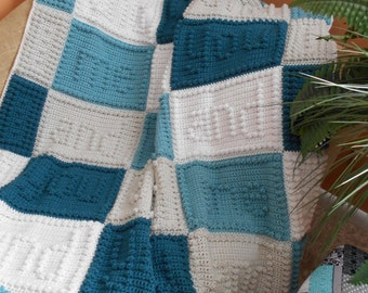 YOU and ME pattern for crocheted blanket.