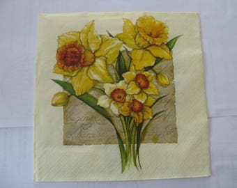 set of 2 towels paper narcissus or Daffodil?