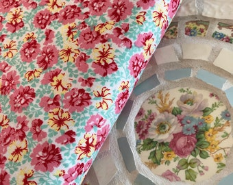 Lily Garden Mint Fabric