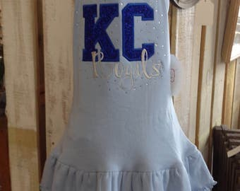 Girl's Kansas City Dress - Kansas City Bling Layered Dress