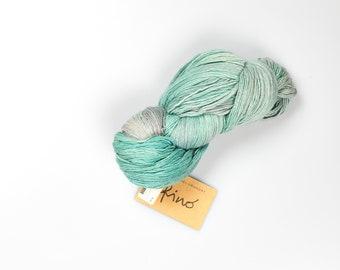 Manos del Uruguay Fino yarn - silk wool blend - 490 yards - Manos knitting yarn - blue knitting yarn - free shipping