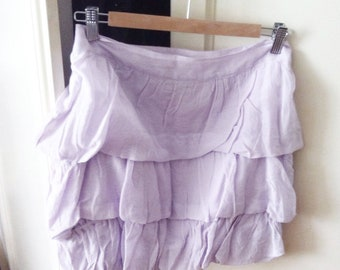 Lilac cotton skirt with new label!