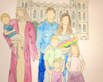 Healing Child Loss Custom Watercolor Painting/ Christ holding baby/ Gift for grieving/ Miscarriage/ Pregnancy loss/ Stillborn/ rainbow baby
