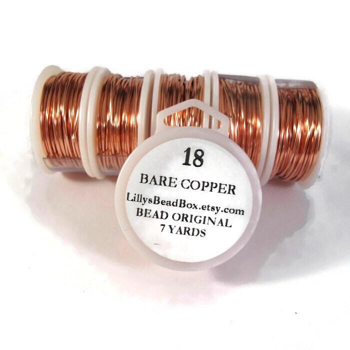 18 Gauge Bare Copper Wire, Genuine Copper, Round Wire for Making ...