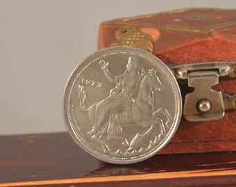 Vintage 20  drachma 1973 greek ,coin greek..large coin