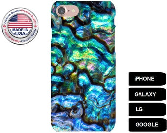 Abalone Phone Case, Phone Case Abalone, iPhone 7 Case, iPhone 6s Case, iPhone 6s Plus Case, iPhone 5 Case, Galaxy S8 Case, Galaxy S7 Case