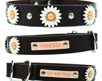 Dog Collar Leather, Dog Collar, Personalized Dog Collar, Custom Collar, Leather Dog Collars, Girl Dog Collar, Collar Leather, Handmade, USA