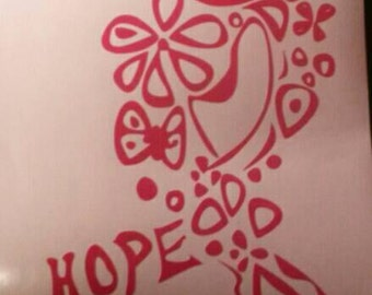 Hope   Cancer  ribbon available in most colors with free shipping