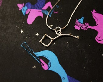 Little Dipper Constellation Gold and Silver Pendant Necklace