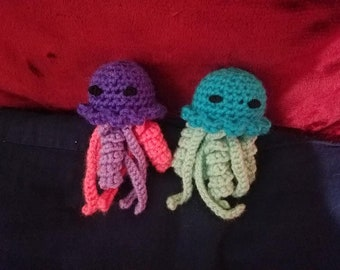 Mini Jellyfish/ Amigurumi/Mini Plushie/Toy/Gift/Aquatic/Crochet