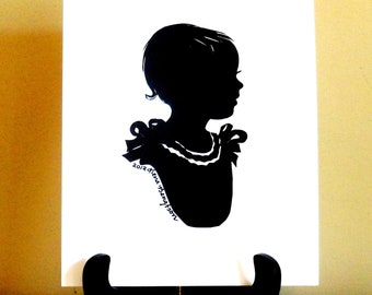 "3 custom silhouettes/one subject/5""x 7"""