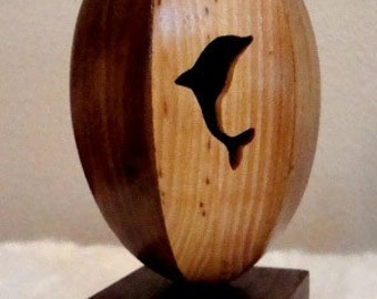 Reclaimed Wood Egg  Land, Sea and Air