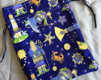 Tarot Bag Ocean Celestial Handmade