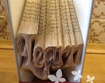 Book Folding Pattern 'Learn' (216 Folds) PDF & Tutorial - Immediate Download