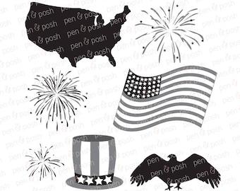 fireworks svg fireworks monogram svg july 4th cut files for