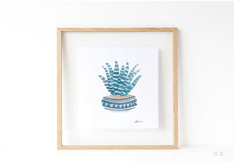 Cactus print: Succulent print | summer print | wedding favors idea ...