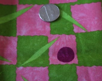 21 Pink and green cotton tropical fat quarter