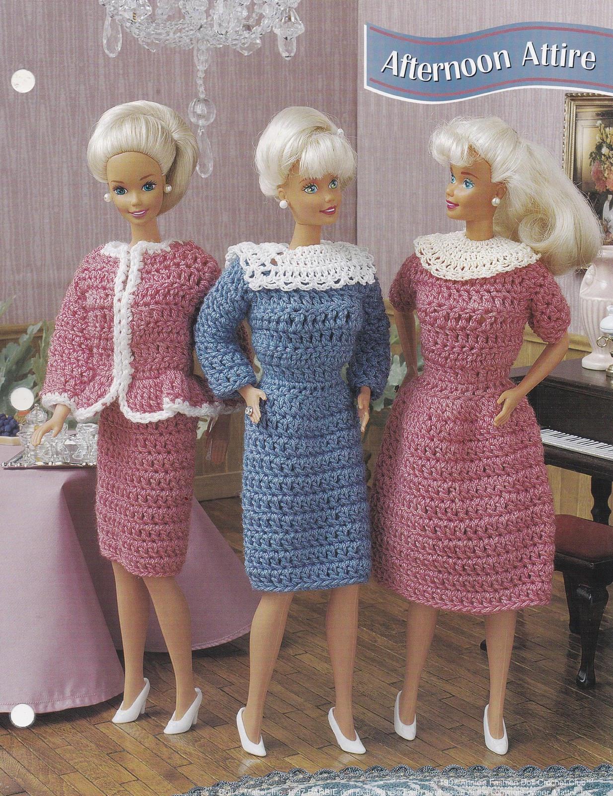 Am Nachmittag Kleidung Annie Attic Mode Puppe häkeln Muster