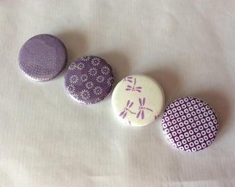 Purple Japanese paper badge