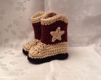 Cowboy Boots Baby Brown and Tan Baby Cowboy Booties Cowgirl Boots Infant Cowboy Boots  Pregnancy Reveal Announcement