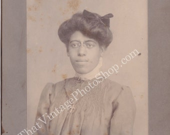 Identified African American Proper womanVintage Cabinet Photo