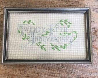 25th Anniversary cross stitch