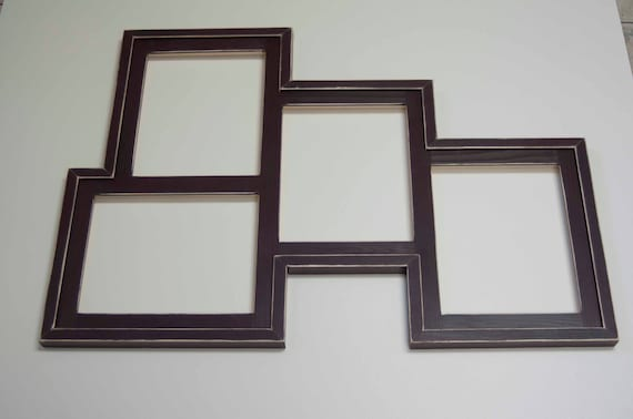 Collage Picture Frame - MULTI 4 Opening 8x10 distressed collage ...