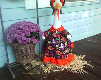 Goose Clothing  -  Fall Goose Dress for Plastic and Concrete Lawn Goose
