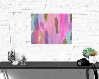 Abstract Painting - Original Abstract Art - Abstract Gold Leaf Painting - Abstract Canvas Art - Original Art
