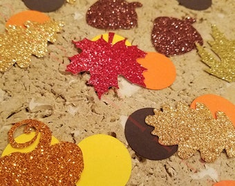 Fall Table Confetti. Handcrafted In 2-3 Business Days. Happy Harvest Decorations. Fall Birthday Party Decorations. 55 Ct.