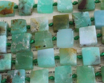 Raw Chrysoprase Nugget Beads For Jewelry Making - Jewelry Supplies - Raw Gemstone Beads - 16 Inch Strand