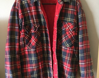 Vintage winter red flannel jacket