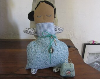 JOSEPHINE, handmade Fabric Doll, Sewing Doll, Felting, Embroidery, Handmade,