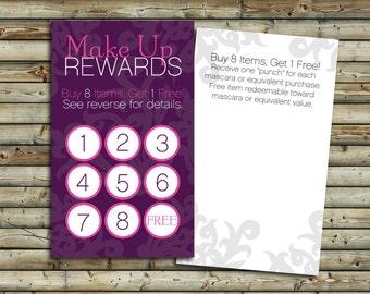 Make business cards etsy make up rewards cards 100 250 500 customer loyalty program direct colourmoves