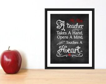 Teacher Appreciation Gift Print Teacher Christmas Gift