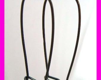 4pcs Large strong oxidized interchangeable Sterling Silver Kidney Earring Wire Earwire ear wire  with rusty looke61