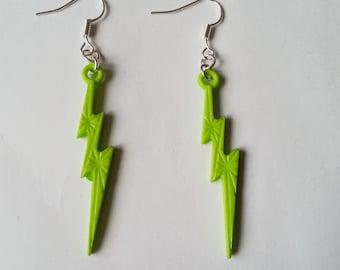 Lightning earrings ♥ ♥ light green