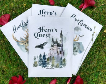 Choose from 12 scents! 1x Hero's Quest Scented Sachet, Car Air Freshener Writer's gifts, Aroma Diffuser, Potpourri Book Lover Gifts for Men