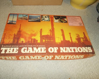 The Game Of Nations Vintage 1973 Board Game Complete
