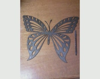 Butterfly metal cutout
