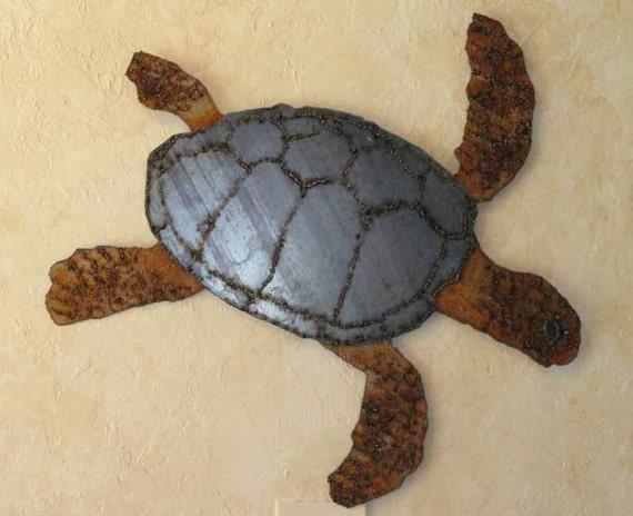 Finest Sea Turtle 1 sheet metal wall art OZ36