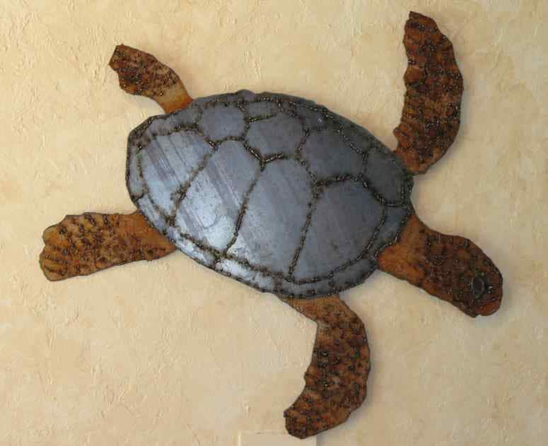 Wonderful Sea Turtle 1 sheet metal wall art KF95