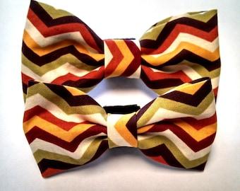 Warm Chevron - Bow Tie or Flower