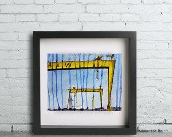 Belfast Cranes Illustration