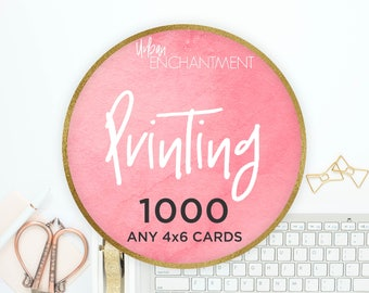 PRINTING -- 1000 -- 4x6 Cards -- Perfect for Tips & Application Cards