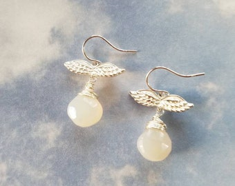 Pearl Chalcedony Angels
