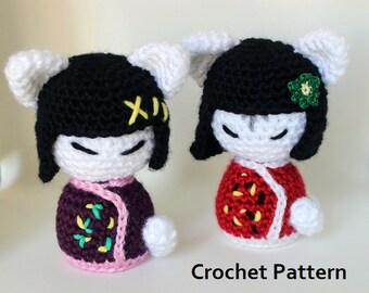 Amigurumi Kokeshi Doll Pattern : Kokeshi doll kokeshi crochet amigurumi amigurumi pattern crochet